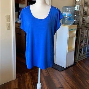 Pretty blue stretchy top